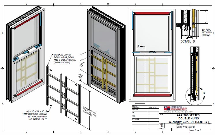 Installation Instructions For Series 200 Sentry Window Guards